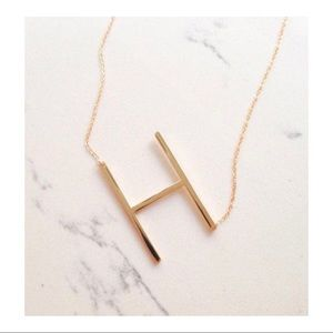 Large Initial Necklace in ROSE GOLD